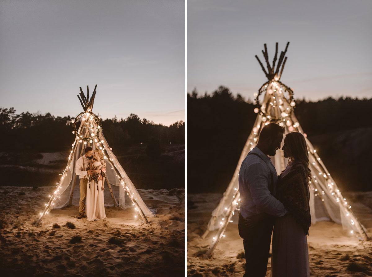 Rustykalna sesja boho pustynna cisza Świetliste fotografia ślubna Gdańsk zdjęcia ślubne Toruń
